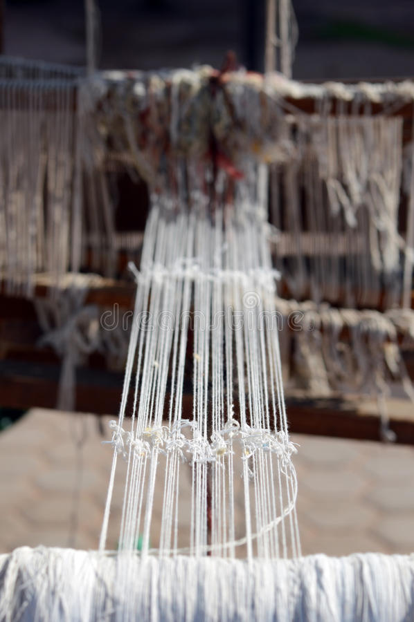 葡萄酒木织布机 库存照片