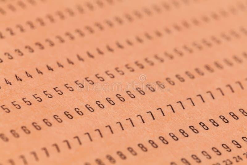 葡萄酒未使用的计算机打孔卡 免版税库存图片