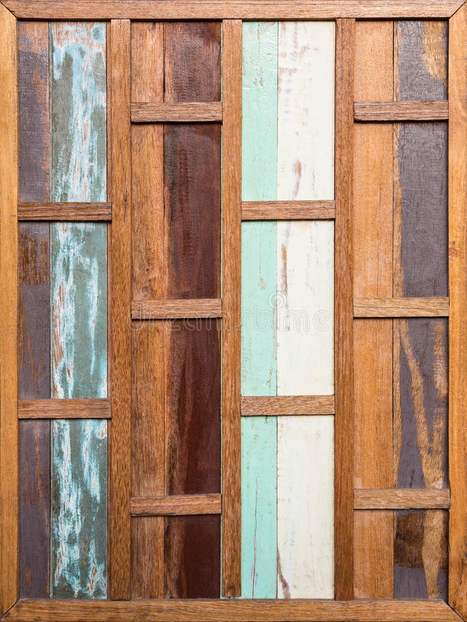 葡萄酒条纹老木墙壁 免版税库存照片