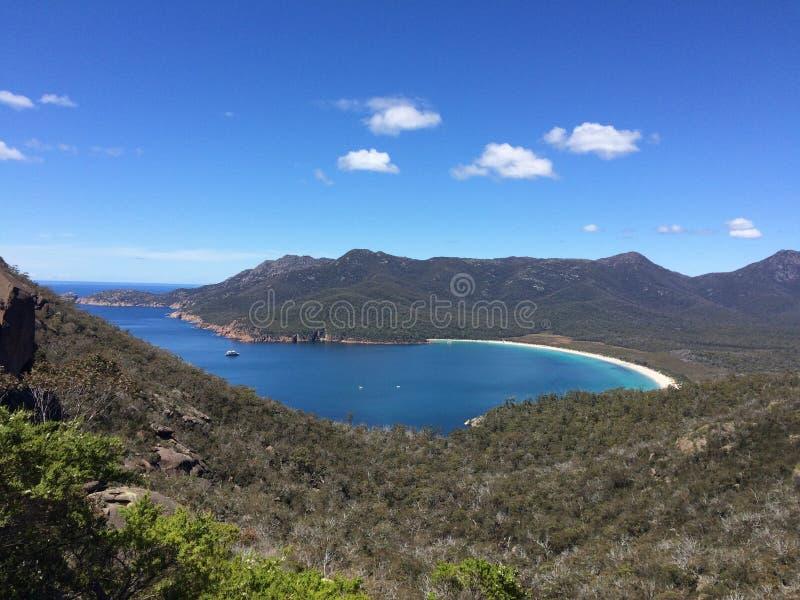 葡萄酒杯海湾,塔斯马尼亚岛,澳大利亚 库存图片
