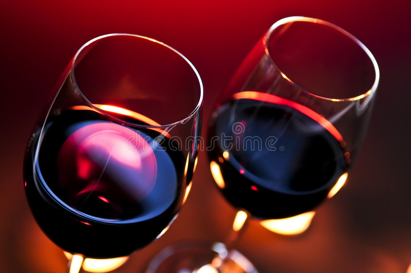 葡萄酒杯 库存图片
