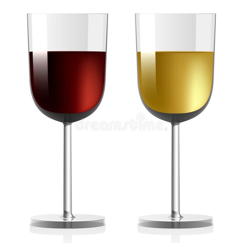 葡萄酒杯 库存例证