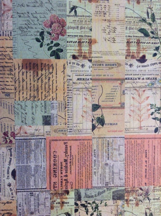 葡萄酒样式纸文本 库存照片