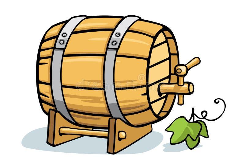 葡萄酒桶 向量例证