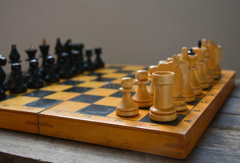 葡萄酒棋-棋,黑图 免版税库存照片