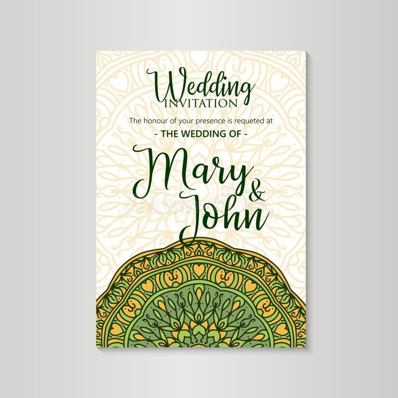 葡萄酒模板婚姻的邀请的设计版面 婚礼邀请,谢谢拟订,保存日期卡片 库存例证