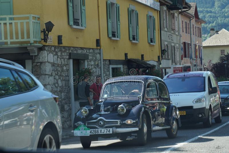 葡萄酒汽车在法国 图库摄影