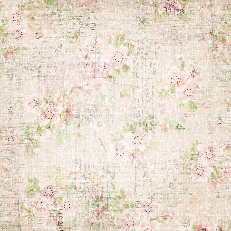 葡萄酒法国花卉破旧的花卉别致的wallaper 免版税图库摄影