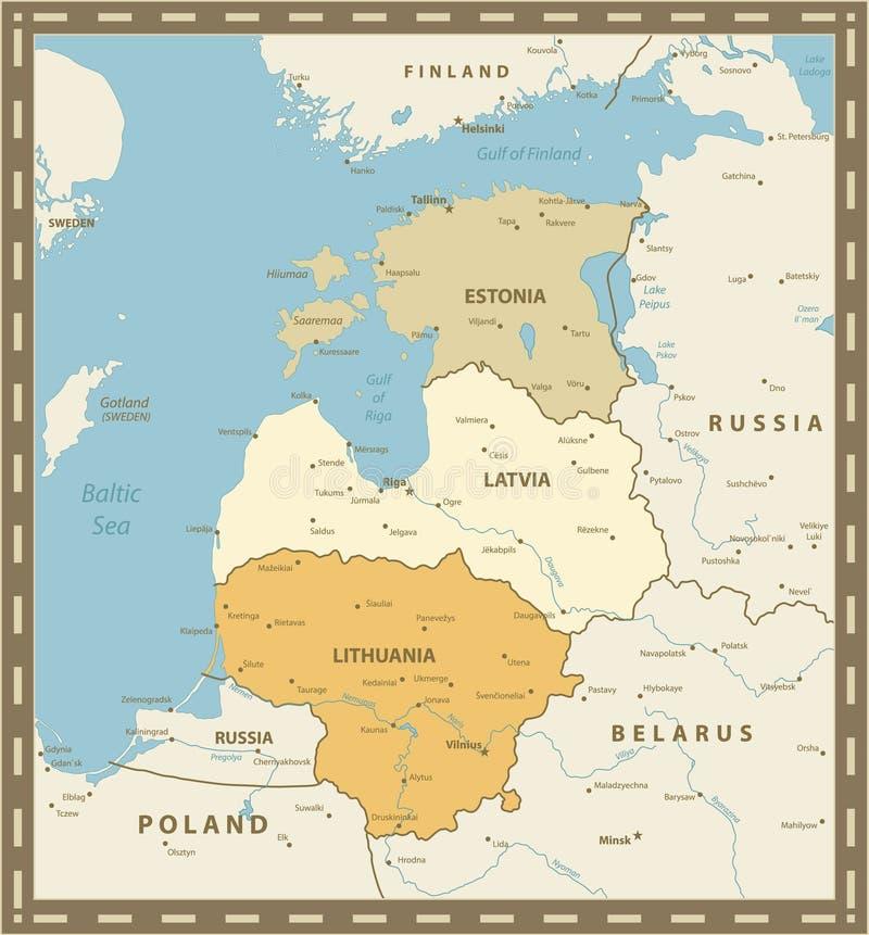 葡萄酒波罗的海国家的颜色表 皇族释放例证