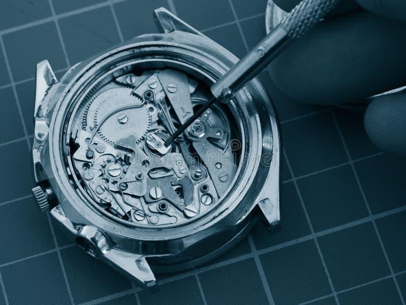 葡萄酒测时器手表机制 库存照片