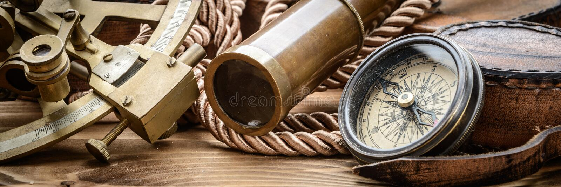葡萄酒海军陆战队员静物画 免版税库存图片