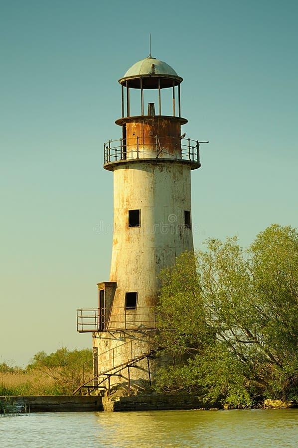 葡萄酒灯塔在苏利纳 免版税库存图片