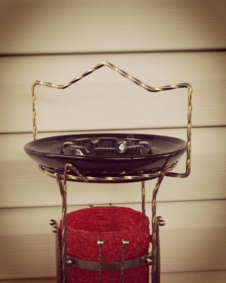葡萄酒烟灰缸和立场 库存照片