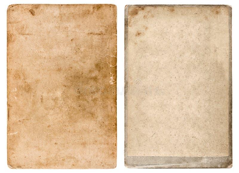 葡萄酒照片纸板 难看的东西使用的纸背景 免版税库存照片
