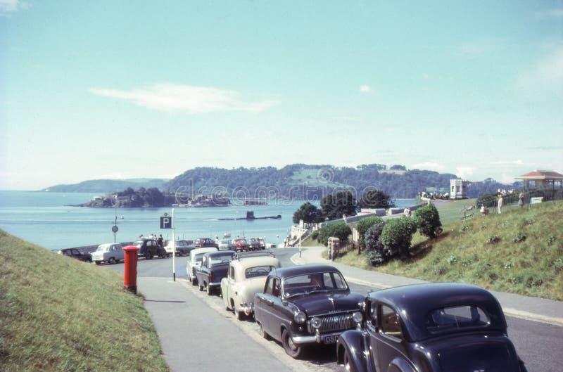 葡萄酒照片1963年 潜水艇和雄鸭海岛 普利茅斯锄 库存图片