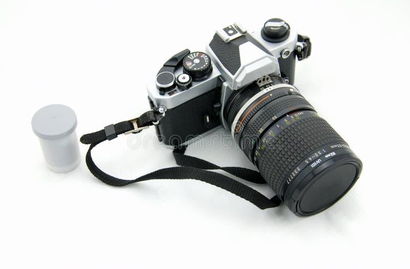 葡萄酒照相机和影片 免版税库存照片