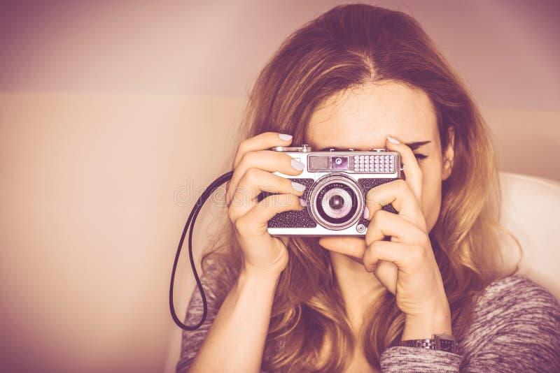 葡萄酒照相机摄影 免版税库存图片