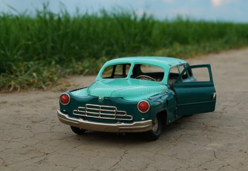 葡萄酒玩具可折叠汽车 库存照片