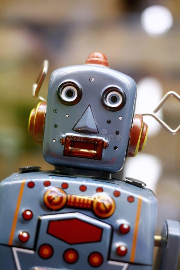 葡萄酒玩具机器人 免版税库存图片