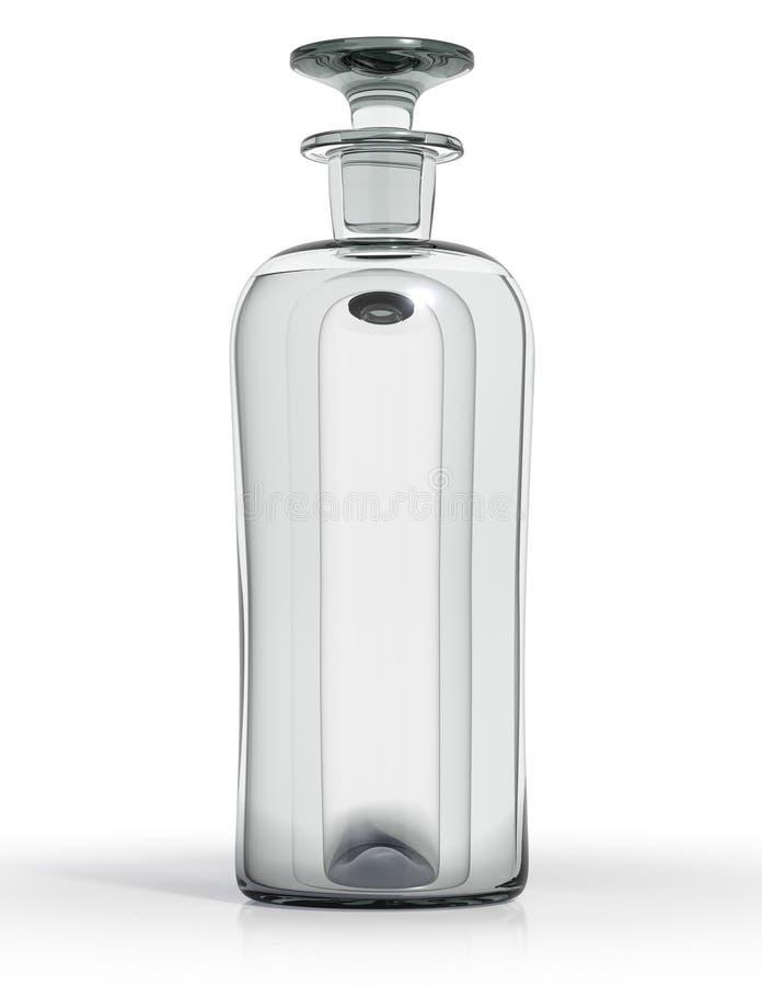 葡萄酒瓶清楚的玻璃 向量例证