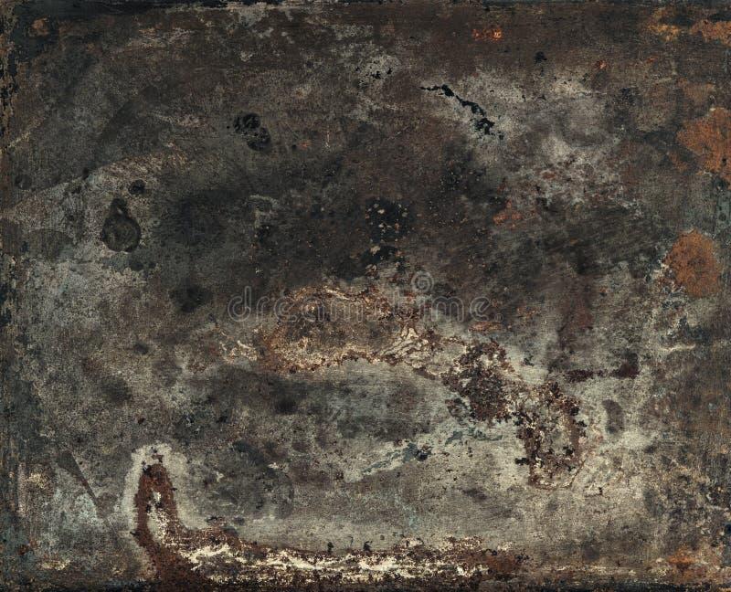 葡萄酒生锈的织地不很细金属背景 被定调子的减速火箭的样式 免版税库存照片