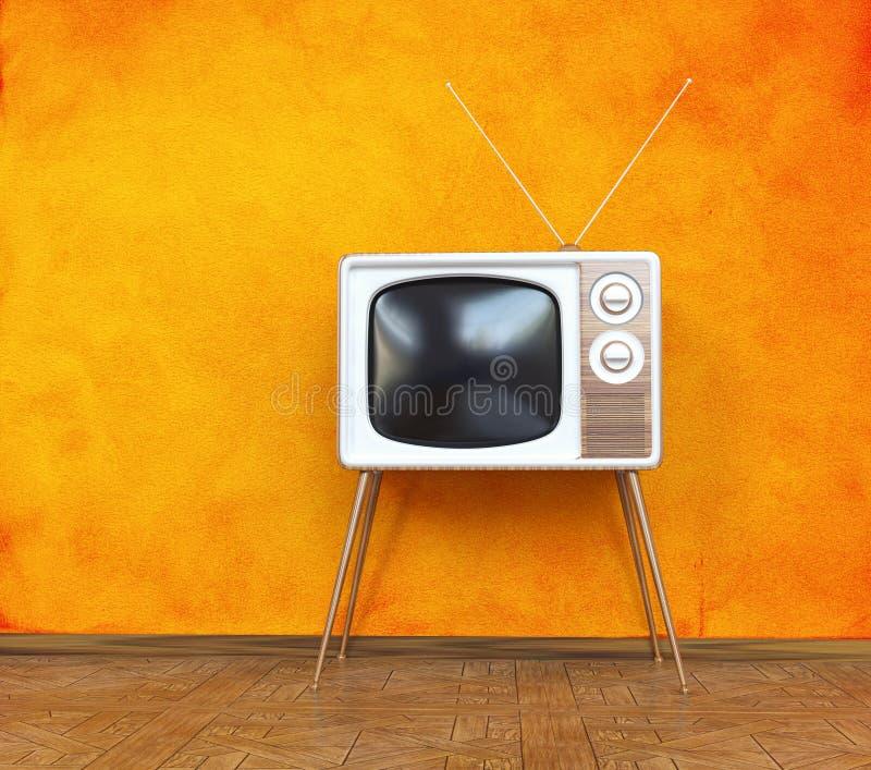 葡萄酒电视 向量例证