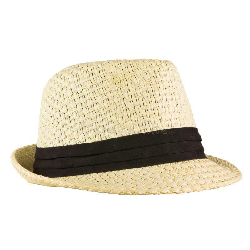 葡萄酒白色帽子 免版税库存照片