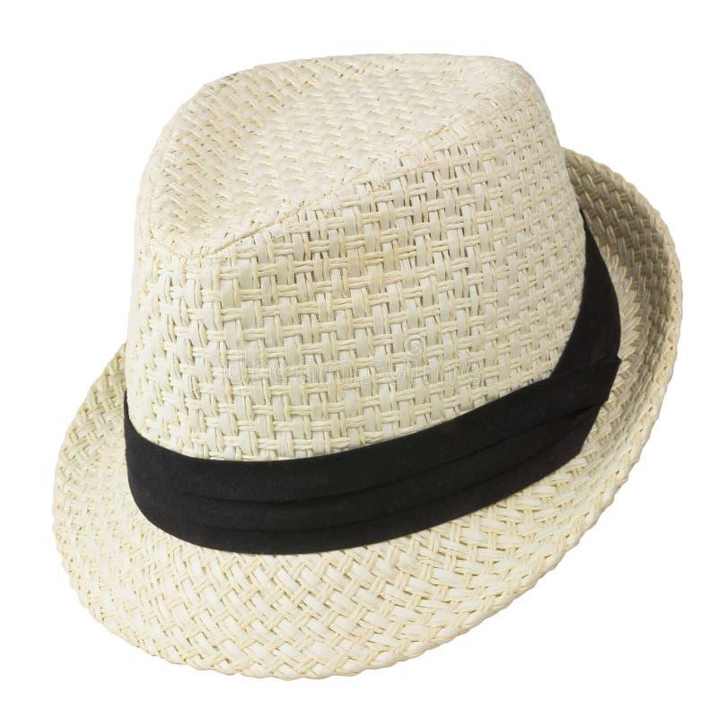 葡萄酒白色帽子 库存图片