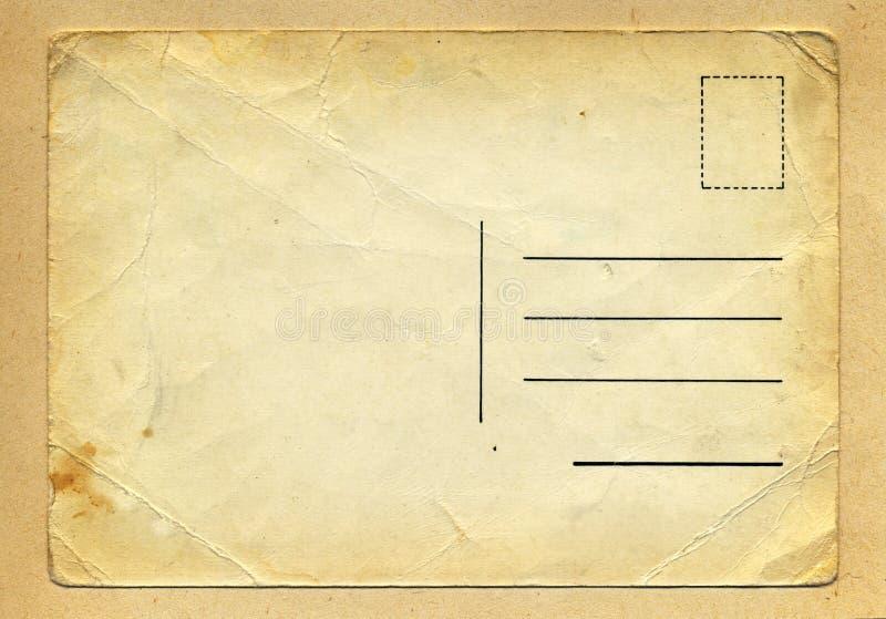 葡萄酒皱痕脏的明信片 库存图片