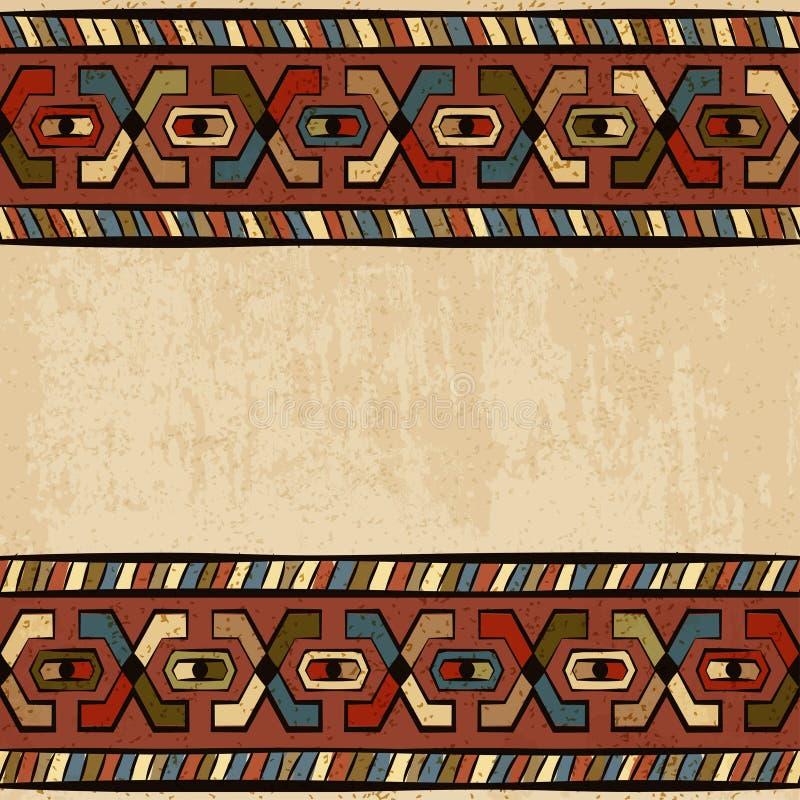 葡萄酒种族背景无缝的装饰品 向量例证