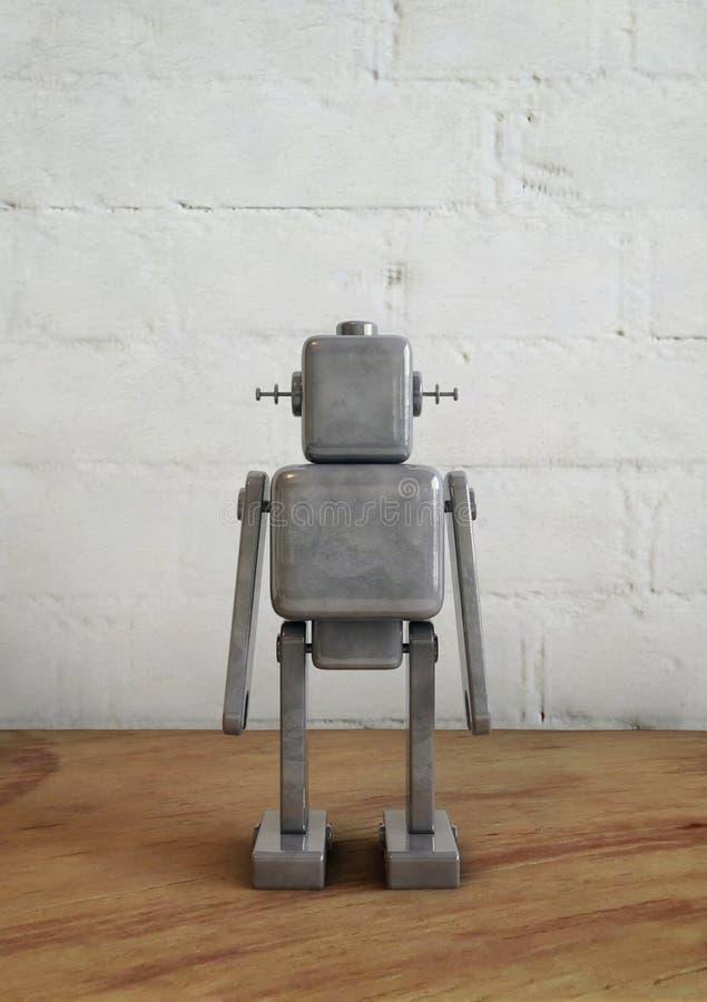葡萄酒称呼了机器人玩具 3d回报,数字图象 向量例证