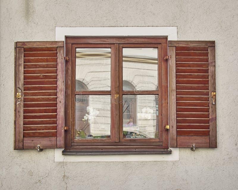 葡萄酒窗口, Munchen,德国 库存照片