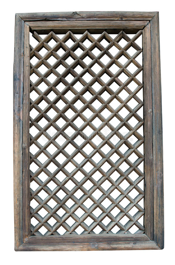 葡萄酒窗架,中国式 库存照片