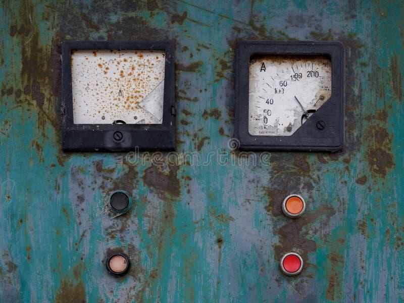 葡萄酒箭头显示和按钮 库存图片