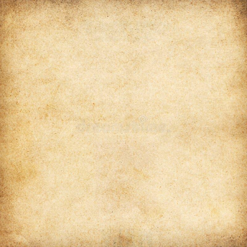 葡萄酒米黄纸纹理或背景 皇族释放例证