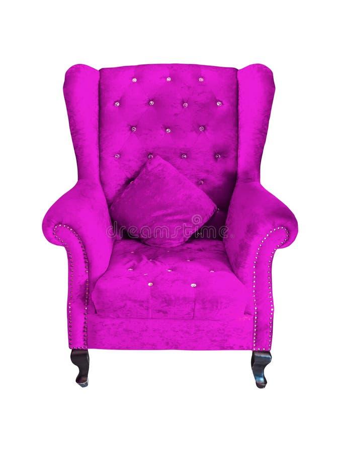 葡萄酒紫色椅子 免版税库存照片