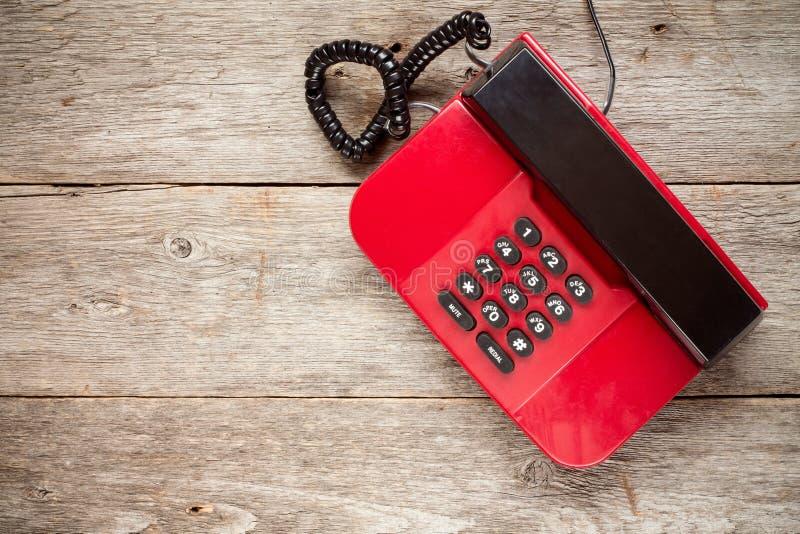 葡萄酒红色电话 库存图片