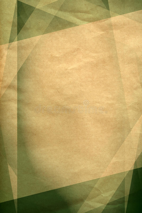 葡萄酒绿色和棕色背景 库存例证