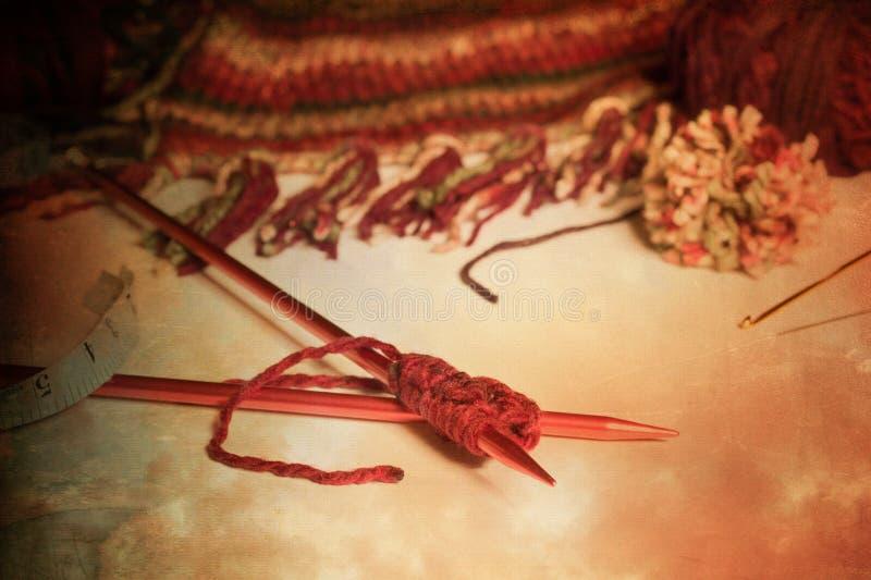 葡萄酒编织的仍然寿命 免版税图库摄影