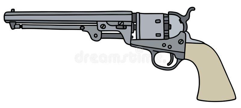 经典左轮手枪图片: 葡萄酒美国人手枪 向量例证. 插画 包括有 空白, 县司法行政官, 射击者, 西部, 左轮手枪, 手枪, 经典
