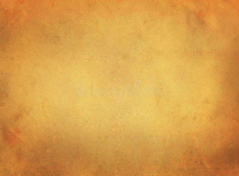 葡萄酒老浅褐色的被风化的纸羊皮纸纹理背景 库存照片