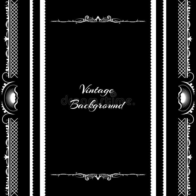 Download 葡萄酒背景框架设计黑色 向量例证. 插画 包括有 问候, 装饰品, 典雅, 装饰, 标签, 纸张, 国界的 - 59106208