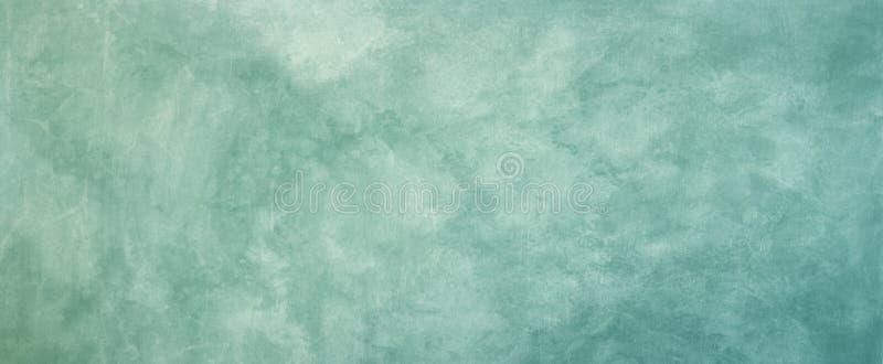 葡萄酒背景纹理 与退色的困厄的样式的老蓝绿色使有大理石花纹的难看的东西织地不很细设计 免版税库存图片