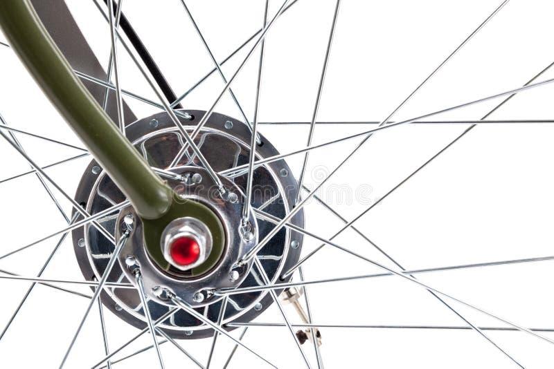 葡萄酒自行车车轮 免版税库存图片