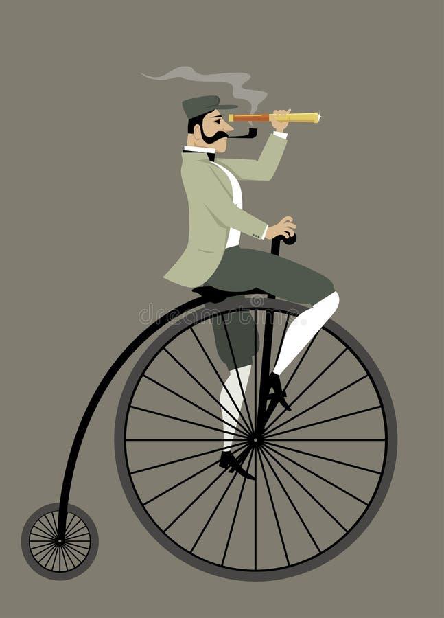 葡萄酒自行车骑士 皇族释放例证
