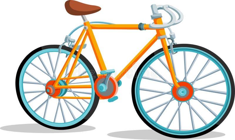 葡萄酒自行车 向量例证
