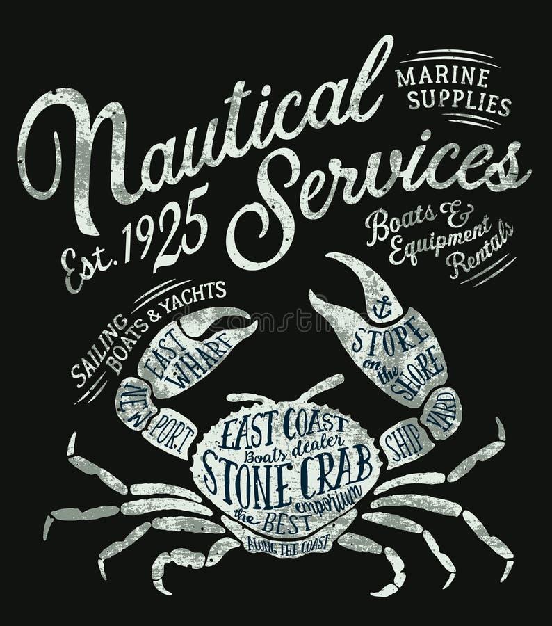 葡萄酒船舶服务海军陆战队员供应 向量例证
