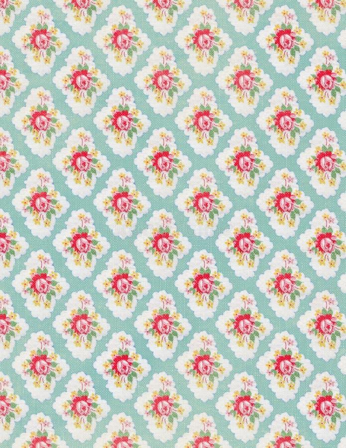 葡萄酒花卉墙纸玫瑰重复模式 库存照片