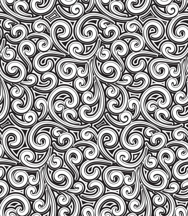Download 葡萄酒花卉样式 向量例证. 插画 包括有 模式, 重复, 卷曲, 曲线, 抽象, 卷毛, 格子, 鞋带, 蔓藤花纹 - 33047349