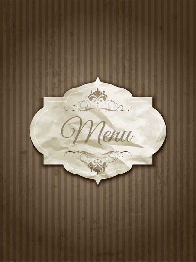 葡萄酒菜单设计 库存例证